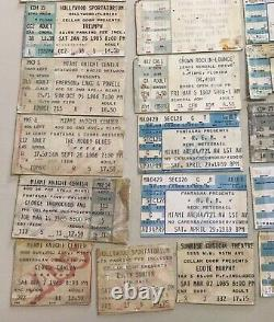 Lot Of (50) Vintage Miami Concert Ticket Stubs Rush Pink Floyd Zz Top Yes R. E. M