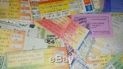 Lot USED/UNUSED concert tickets stubs Clapton B B King The Police Seger Utopia+