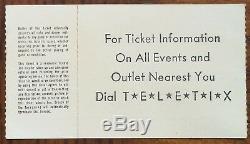 Lynyrd Skynyrd-1976 RARE Original Concert Ticket Stub (Concord Pavilion)