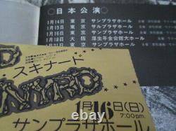 Lynyrd Skynyrd 1977 Japan Tour Book with A Japanese Ticket Stub Concert Program