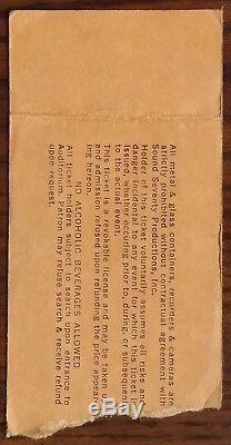 Lynyrd Skynyrd-1979 RARE Concert Ticket Stub (Volunteer Jam V-Nashville)