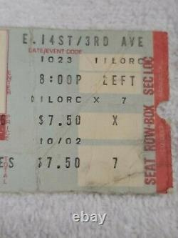 Lynyrd Skynyrd Orig 1976 Concert Ticket Stub Palladium NYC 1 More From The Road