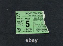 Lynyrd Skynyrd Original 1976 concert ticket stub Atlanta One More From The Road