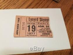 Lynyrd skynyrd final concert 1977 ticket stub