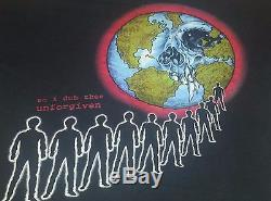 METALLICA Vintage Tee Shirt 90's Tour Concert UNFORGIVEN XL Pushead TICKET STUB