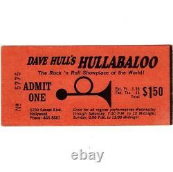 MITCH RYDER & THE DETROIT WHEELS Concert Ticket Stub LA 12/31/65 NEW YEARS EVE