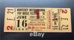 MONTEREY POP FESTIVAL Concert Ticket Stub UNUSED June 16, 1967 SIMON GARFUNKEL
