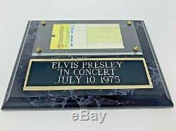 Mega Rare Authentic Original 1975 Elvis Presley concert ticket stub with Cert OH