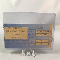 Metallica Faith No More Thomas Mack Center NV Concert Ticket Stub September 1989