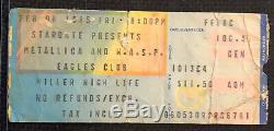 Metallica Ride The Lightning Tour Concert Ticket Stub Vtg Feb 8 1985 Milwaukee