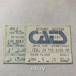 Michael Jackson Kemper Arena Kansas City Concert Ticket Stub Vtg February 1988