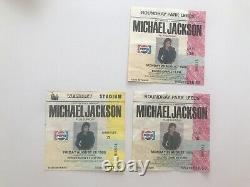 Michael Jackson bad tour concert ticket stub Set Of 3 MJ Birthday Dates Rare