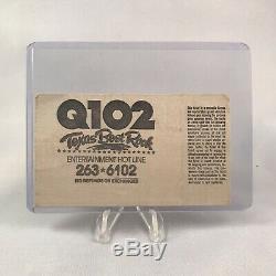 Motley Crue Bronco Bowl Mustang Oklahoma Concert Ticket Stub Vintage Dec 3 1983