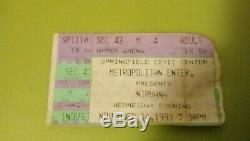 NIRVANA KURT COBAIN DAVE GROHL Springfield, MA concert ticket stub 1993