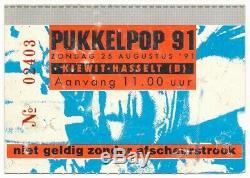 NIRVANA, THE RAMONES vtg concert ticket stub 1991 Pukkelpop Hasselt Belgium RARE