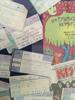 NYC Concert Ticket Stubs Framed- KISS, U2, Stones, Beastie Boys, NIN, Lollapalooza