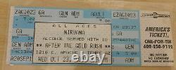 Nirvana After the Gold Rush Tempe AZ Unused Concert Ticket 10/23/91 Full Stub