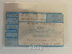 Nirvana Sonic Youth Concert Ticket Stub Moore Theater Seattle 1990