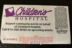 Nirvana Ticket Stub 1993 Kurt Cobain Hara Arena Dayton Ohio 10/30/93 Concert