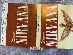 Nirvana Very Rare Concert Ticket Stub 1994 Kurt Cobain GUEST THE BUZZCOKS