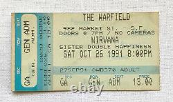 Nirvana Vintage Concert Ticket Stub Lot of 3 WARFIELD 1991 COW PALACE 1993 Rare