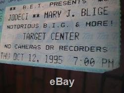 Notorious BIG 1995 concert ticket stub b. I. G. Biggie smalls ultra rare item