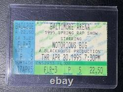 Notorious BIG 4/20 1995 Concert Ticket Stub B. I. G. Biggie Smalls Ultra Rare Item