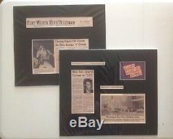 ORIGINAL ELVIS PRESLEY 1974 CONCERT TICKET STUB FORT WORTH, TX. With ARTICLE LOT