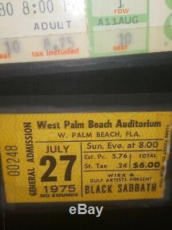 OZZY OSBOURNE & TONY IOMMI AUTOGRAPHS with concert ticket stub July 27, 1975
