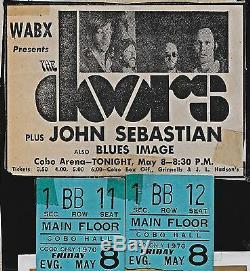 One Doors Original Cobo Arena Detroit Concert Main Floor Ticket Stub May 8, 1970