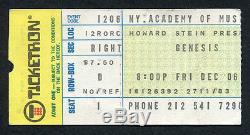 Original 1974 Genesis concert ticket stub NY Academy of Music Rare Peter Gabriel