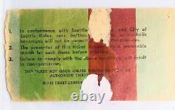 Original 1977 Led Zeppelin Concert Ticket Stub Seattle Kingdome