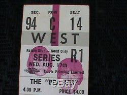 Original Aug17 1966 Beatles Concert Ticket Stub Maple Leaf Gardens- Toronto
