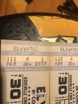 Original Elvis Concert Ticket Stub / Asheville N. C. May 30 1977 Real Tickets