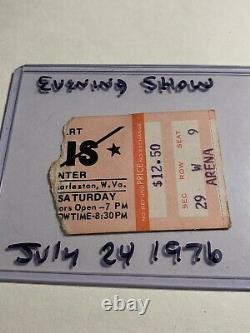 Original Elvis Concert Ticket Stub Charleston, WV July 24 1976