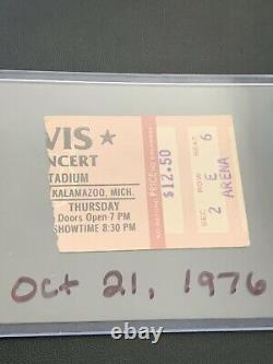 Original Elvis Kalamazoo, Michigan / October 21, 1976 / Concert Ticket Stub