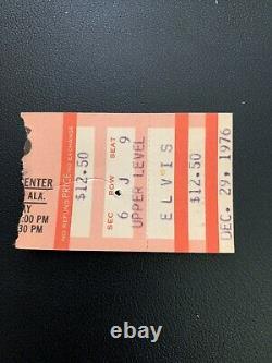 Original Elvis Presley Concert Ticket Stub Dec. 29, 1976 Birmingham, Alabama
