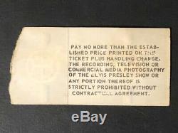 Original Elvis Presley Indianapolis Market Square Last Concert Ticket Stub 1977