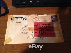 Original Nov 25 1956 Elvis Presley Concert ticket stub