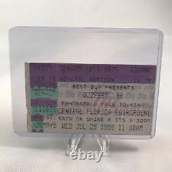 Ozzfest Central Florida Fairgrounds FL Concert Ticket Stub Ozzy Vtg July 29 1998
