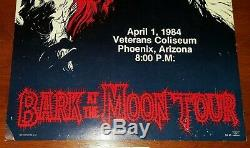 Ozzy Osbourne Bark At The Moon Concert Poster And Ticket Stub 4/1/84 Super Rare