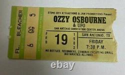 Ozzy Osbourne Concert Ticket Stub Rare Infamous San Antonio Texas Randy Rhoads