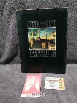 PINK FLOYD 1977 EMPIRE POOL WEMBLEY CONCERT PROGRAM TICKET STUB and GUEST PASS