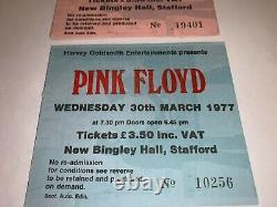 PINK FLOYD 3 ORIGINAL 1977 CONCERT TICKET STUBS Tour ROGER WATERS RICK WRIGHT
