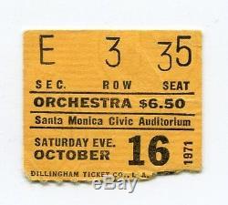 PINK FLOYD Concert Ticket Stub 10-16-1971 Santa Monica California Meddle Tour