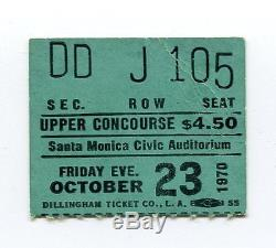 PINK FLOYD Concert Ticket Stub 10-23-1970 Santa Monica CA Atom Heart Mother RARE