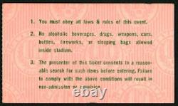 PINK FLOYD-David Gilmour-1977 RARE Concert Ticket Stub (Anaheim Stadium)