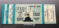 PINK FLOYD UNUSED Concert Ticket Stub April 30, 1977 JEPPESEN HOUSTON TEXAS