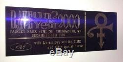 PRINCE TIME Concert Ticket Stub December 18, 1999 PAISLEY PARK STUDIOS MINNESOTA