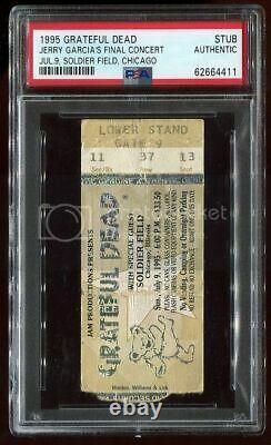 PSA Ticket Concert 1995 Gratefull Dead Jerry Garcia's Final Show 7/9 Chicago